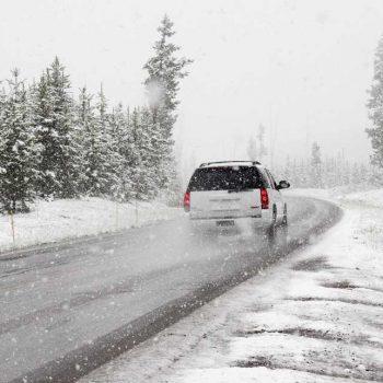 Met auto op wintersport
