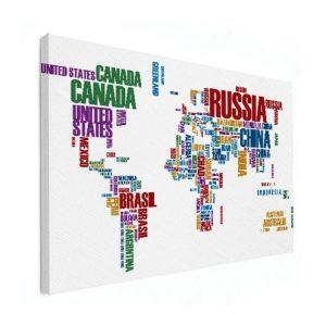wereldkaart woordwolk